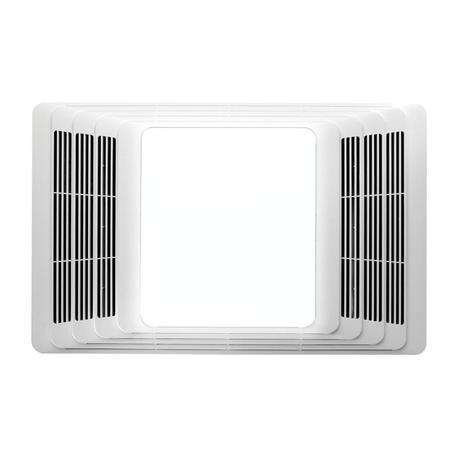 Broan White Bathroom Fan With Integrated Heater And Incandescent Room Light  656