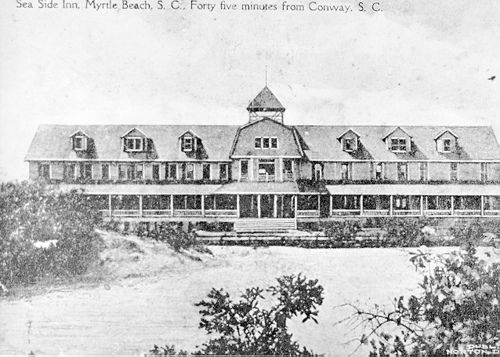 The First Hotel At Myrtle Beach Built In 1900 Behind The Sand Dunes Photograph Anchor Bank Photographed By Dr C J Epps Myrtle Beach S C Anchor Myrtle Beach