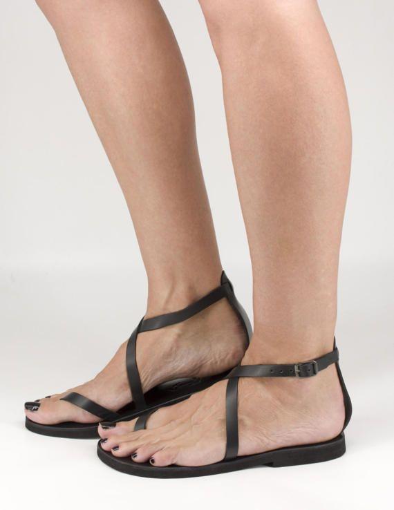01fda2dc963 DURDI - men women leather sandals ankle strap sandals unique toe ...