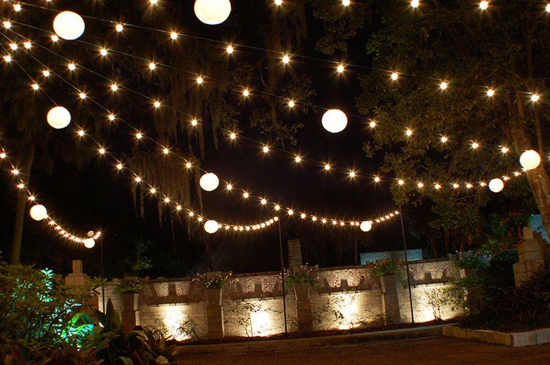 Market Lights And Lanterns At A Fall Wedding Reception The Maitland Art Center Lighting