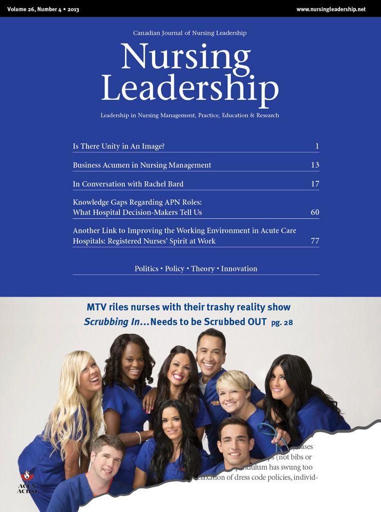 Nursing Leadership Vol. 26, No. 4