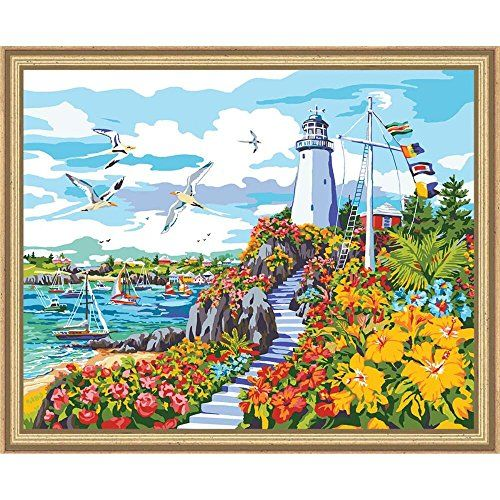 Plaid Creates Paint by Number Kit 16 by 20Inch 22044 Coastal Paradise