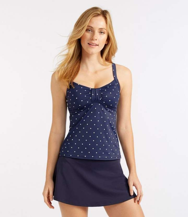 a062cc6d157a3 L.L. Bean L.L.Bean Mix-and-Match Swim Collection, Sweetheart Tankini Top Dot