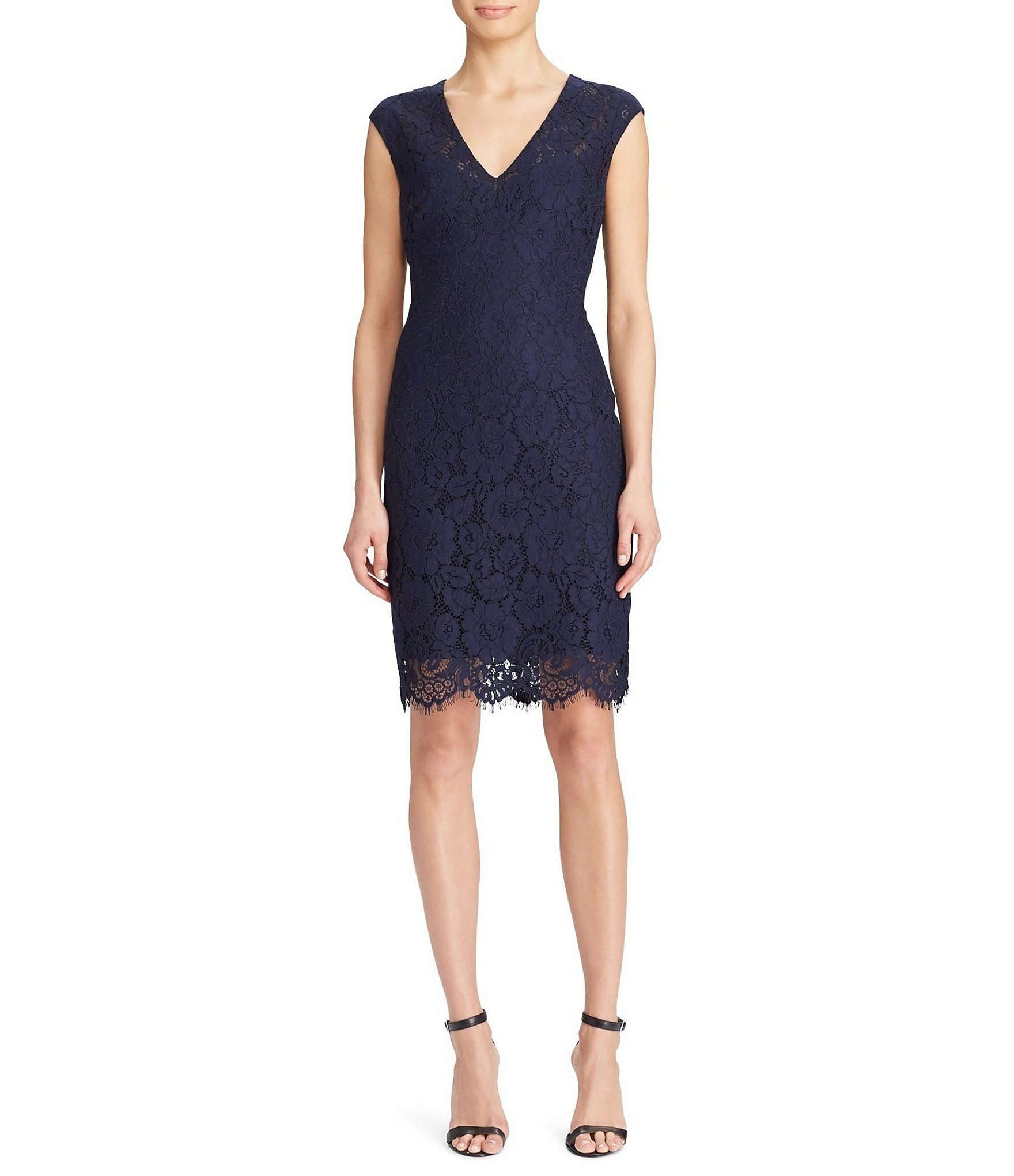 194fd8bbf5c Shop for Lauren Ralph Lauren Lace V-Neck Dress at Dillards.com. Visit  Dillards.com to find clothing