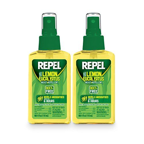 REPEL HG24109 Lemon Eucalyptus Natural Insect Repellent with 4 oz Pump Spray Twin Pack