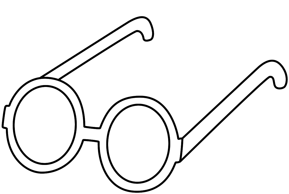 Glasses Coloring Page Clothing Coloring Pages Heart Coloring Pages Color