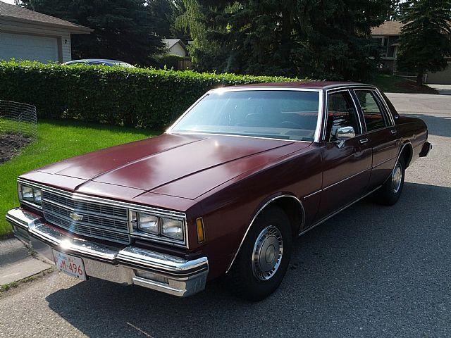 1981 Chevrolet Impala For Sale Calgary Alberta Chevrolet Impala