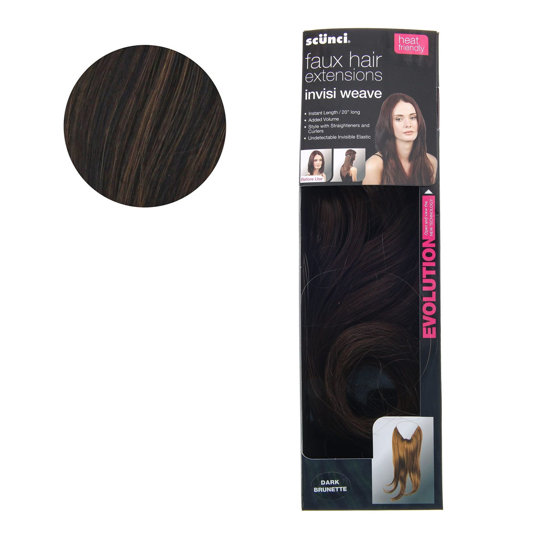 Scunci Dark Brunette Faux Hair Extensions Sca Decorating Garb