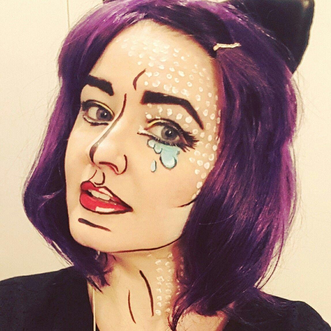 Pop Art Cartoon Comic Makeup Halloween Face Paint Makeup Is Art In