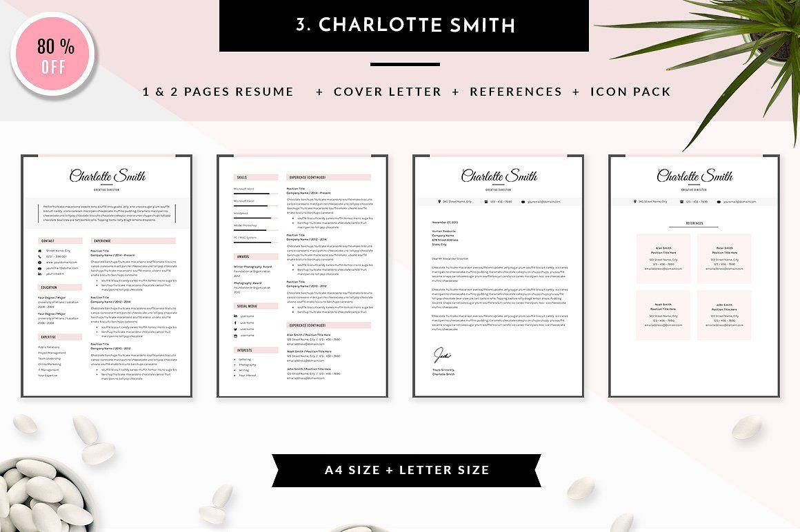6 in 1 resume templates bundle vol 2 resume templates