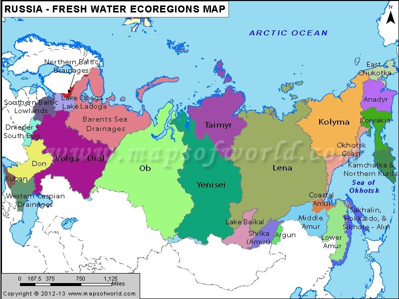 Russia Freshwater Ecoregions Map Russia Pinterest Russia and - fresh world map in russian