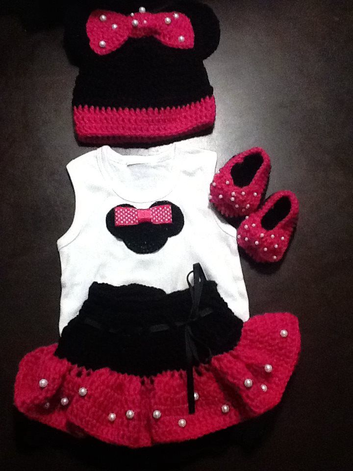 set de minnie a crochet