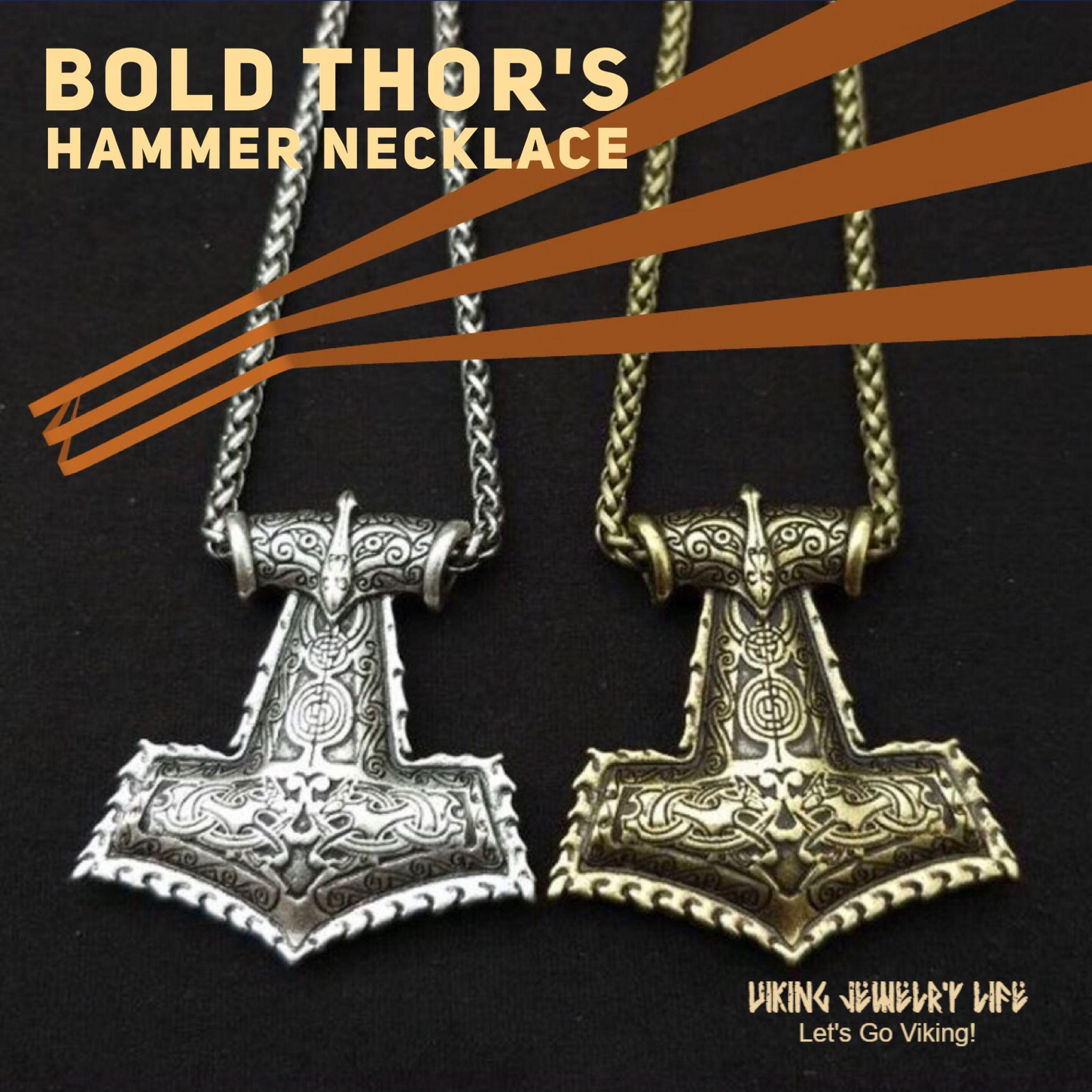 Myth THOR/'S HAMMER Norse Magick Mjolnir Viking Pendant Leather Cord Necklace