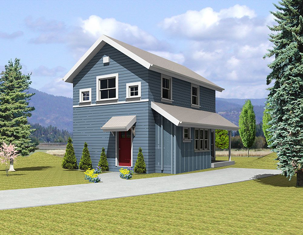 Plan 3565wk 2 Bed House Plan With A Small Footprint Narrow Lot House Plans House Plans Architectural Design House Plans
