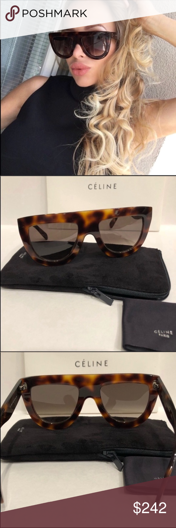 9028d9276972 Celine sunglasses 😎 Celine 41398 s Andrea Havana Brown sunglasses New  condition. 100%