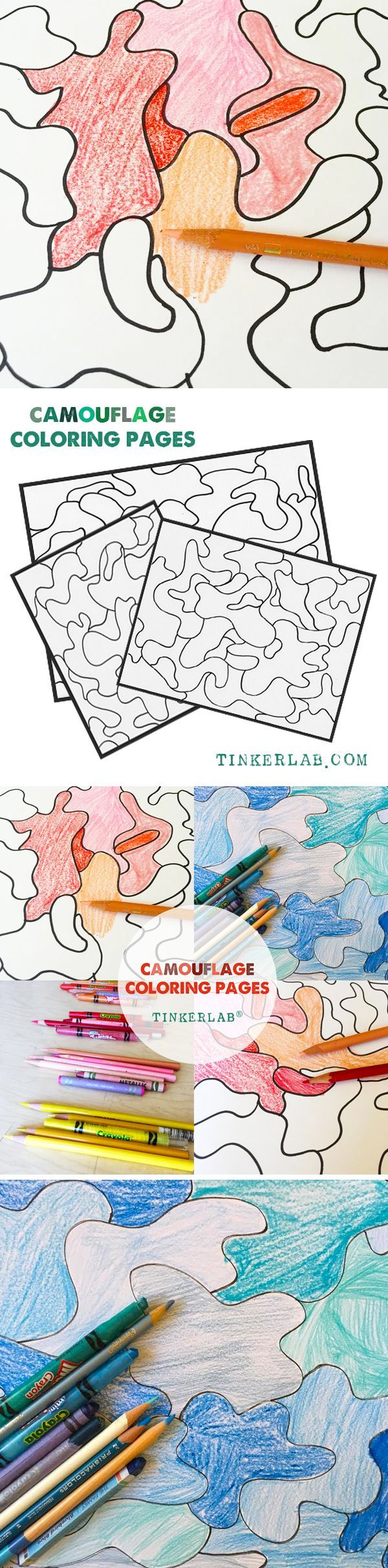 Camouflage Coloring Pages Art Activities For Kids Coloring For