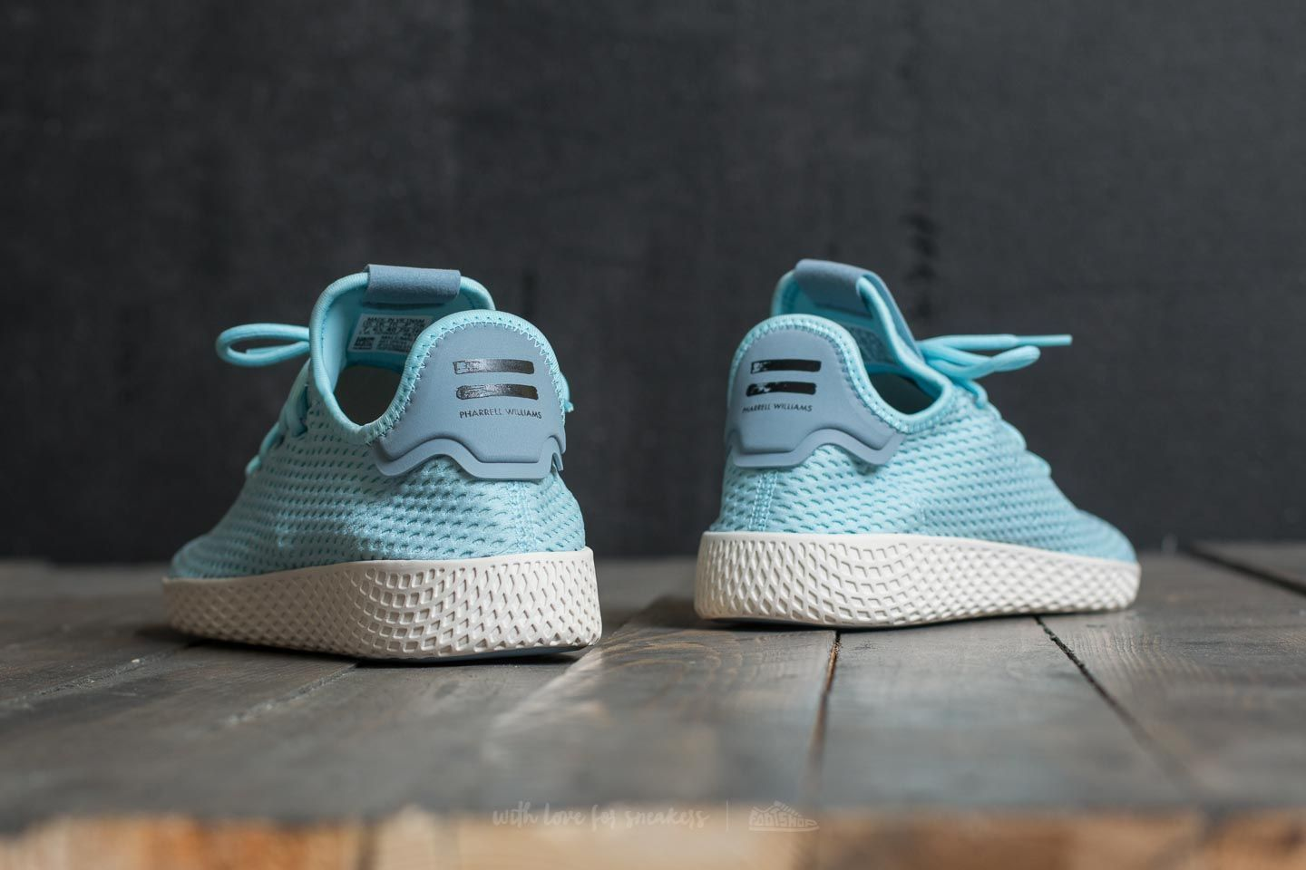 new concept 5814b b9749 adidas Pharrell Williams Tennis HU Ice Blue Ice Blue Tactile Blue at a  great