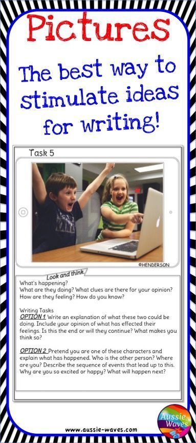 Make writing easier and stimulate the imagination with these images and suggestions. Make kids excited to write.