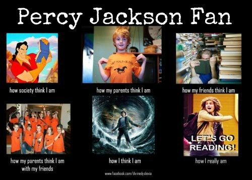 Lol XD Sadly though, I don't have many real life friends that are hard core Percy Jackson fans like me :( oh well!
