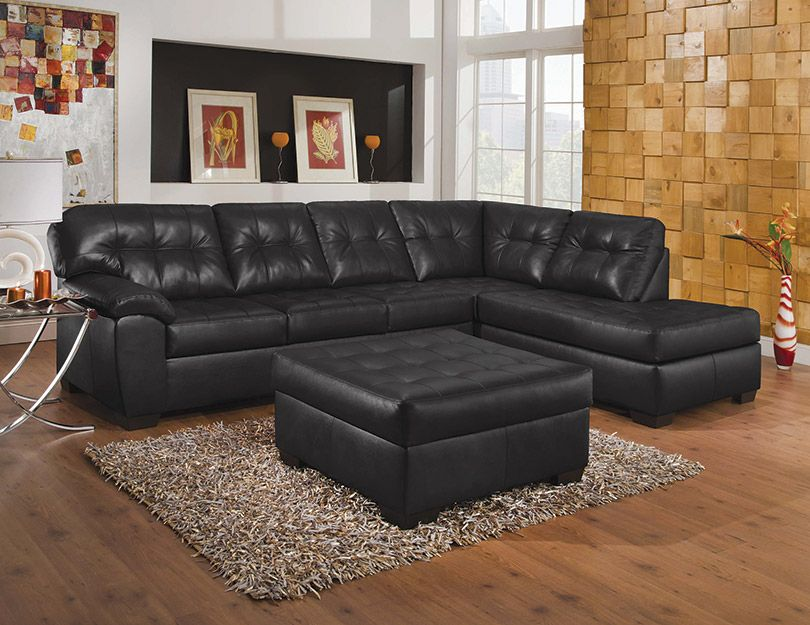 Tufted Sectional With Chaise
