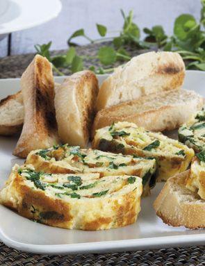 Recette Omelette roulée au comté et cresson - Grand Frais ...