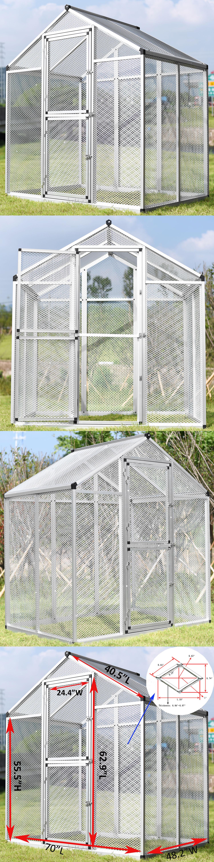 Cages 46289: Large Pet Bird Cage Parrot Cockatiel Cockatoo Walk-In ...