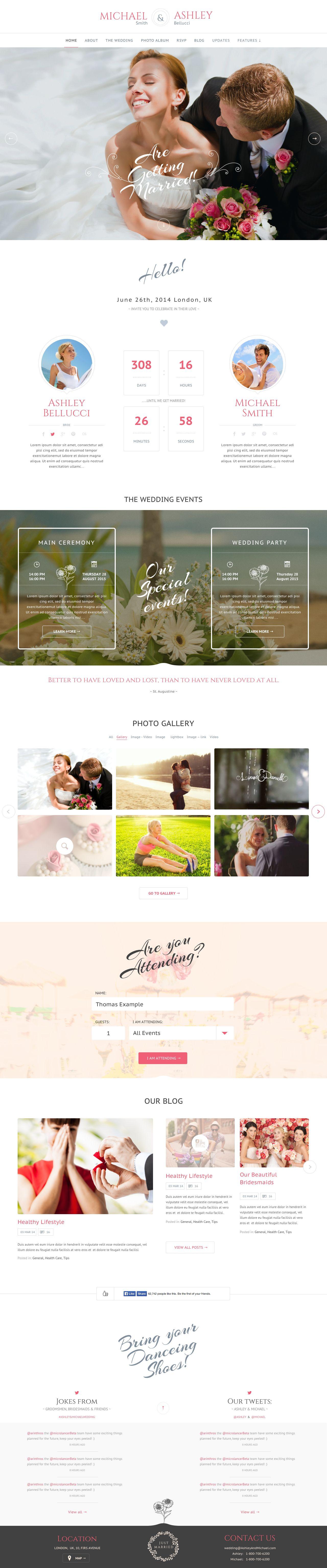 Honeymoon Wedding Wedding And Wedding Planner Wordpress Theme