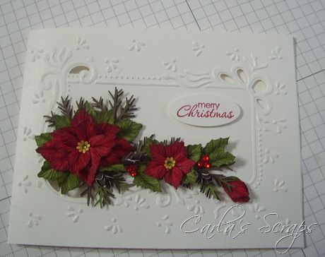 Poinsettia, Poinsettia Christmas Cards, Marianne Designables Dies, Happiness Shared, Stampin Up, Carla's Scraps (2)