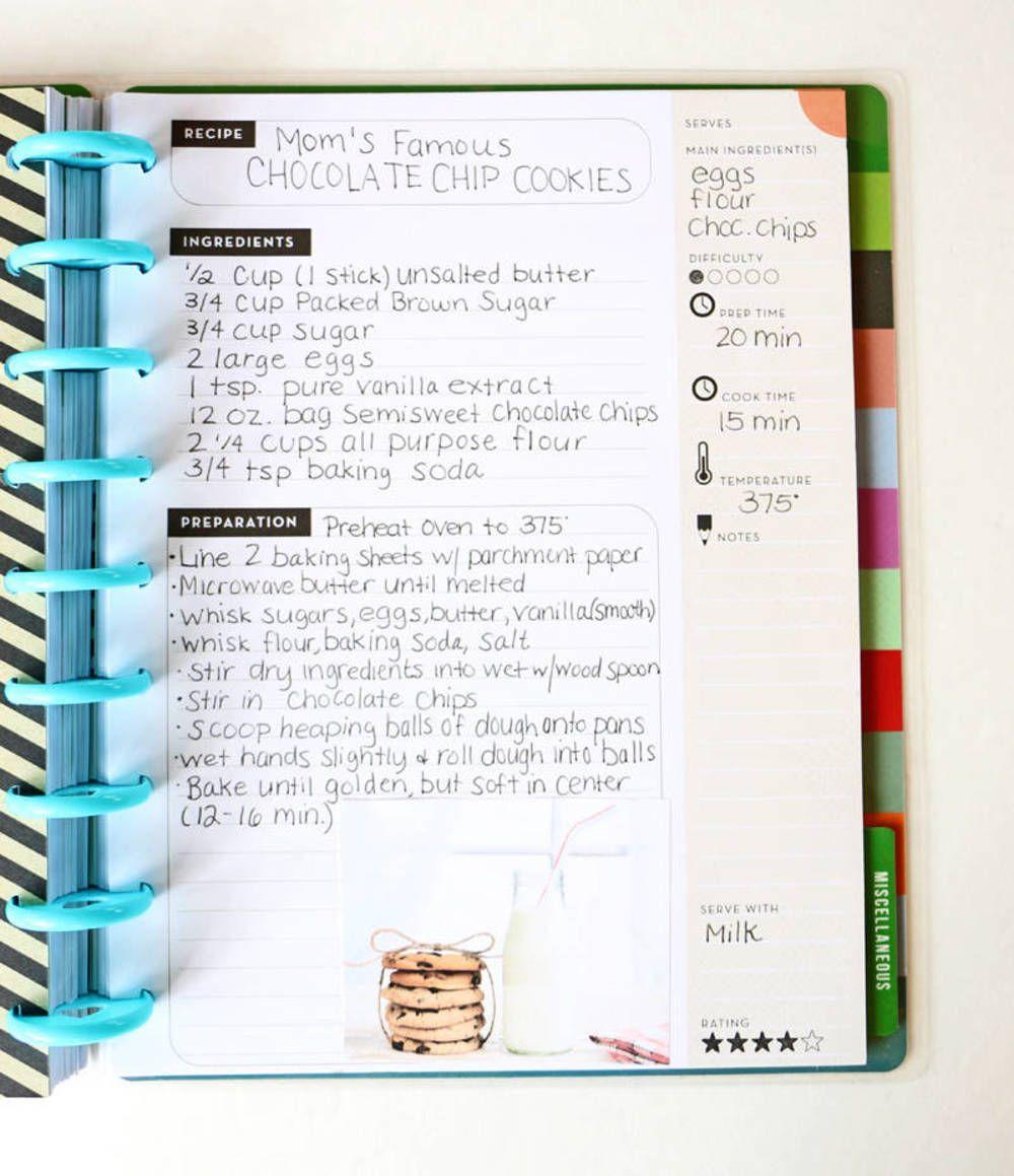 Inside Look Mambi Recipe Organizer Recipe Book Diy Recipe Organization Scrapbook Recipe Book