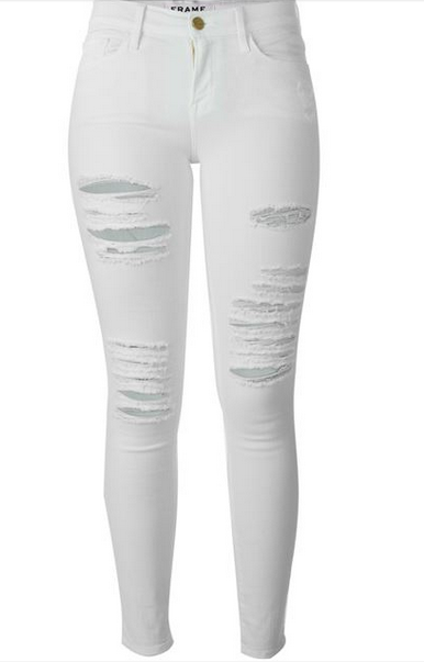14 White Jeans To Wear This Summer White Distressed Jeans Distressed Skinny Jeans White Ripped Skinny Jeans