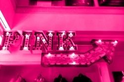 Neon Pink Arrow