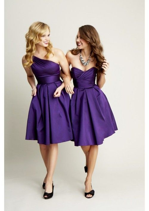 Elegant purple dresses