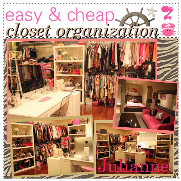 easy cheap closet organization polyvore closet organization basement closet room closet. Black Bedroom Furniture Sets. Home Design Ideas