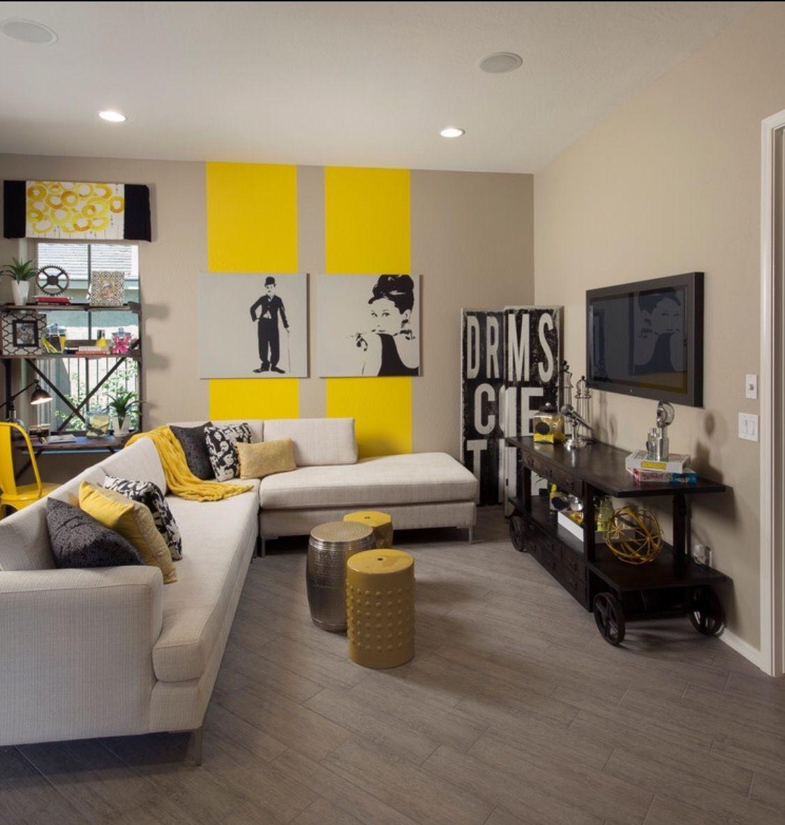 Yellow Black Cream Woman Cave Inspiration Yellow Decor Living Room Living Room Inspiration Grey Grey And Yellow Living Room #yellow #grey #and #black #living #room