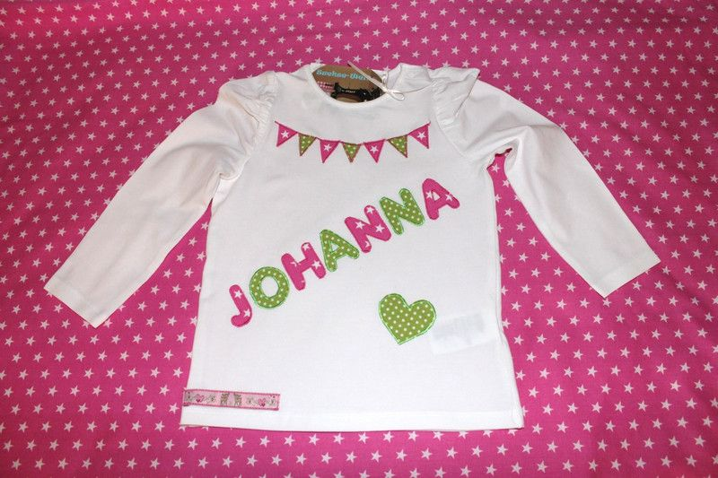 Namens-Shirt von Suehse-Welt auf DaWanda.com