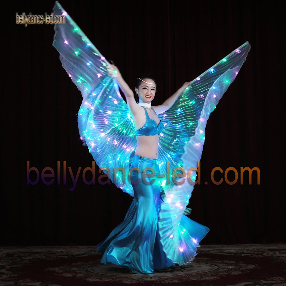 e18f4f9de 3 colored LED isis wings belly dance club show light performance blue green  pink #bellytreasure
