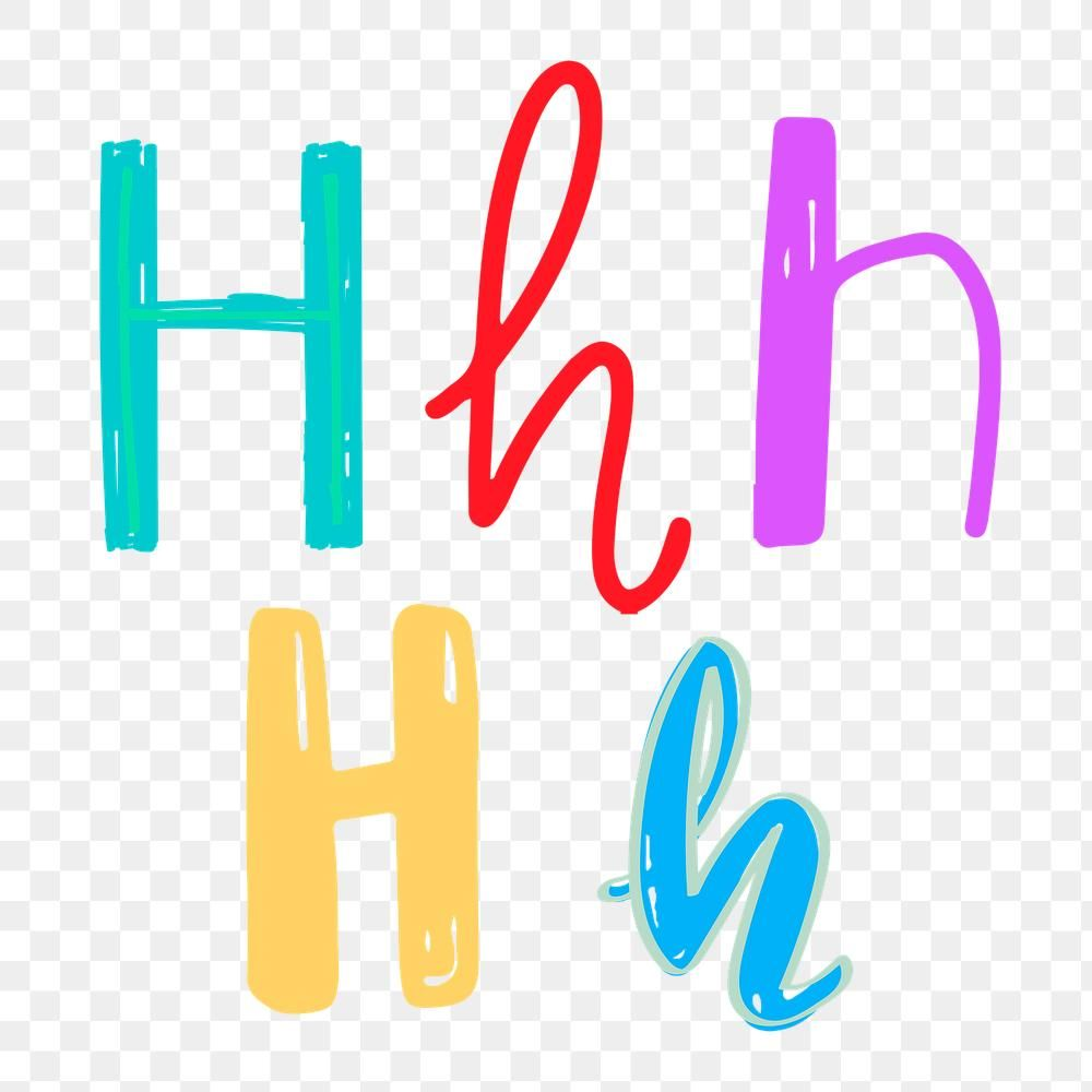 Letter H Png Doodle Typography Set Free Image By Rawpixel Com Aum Lettering Doodle Alphabet Typography