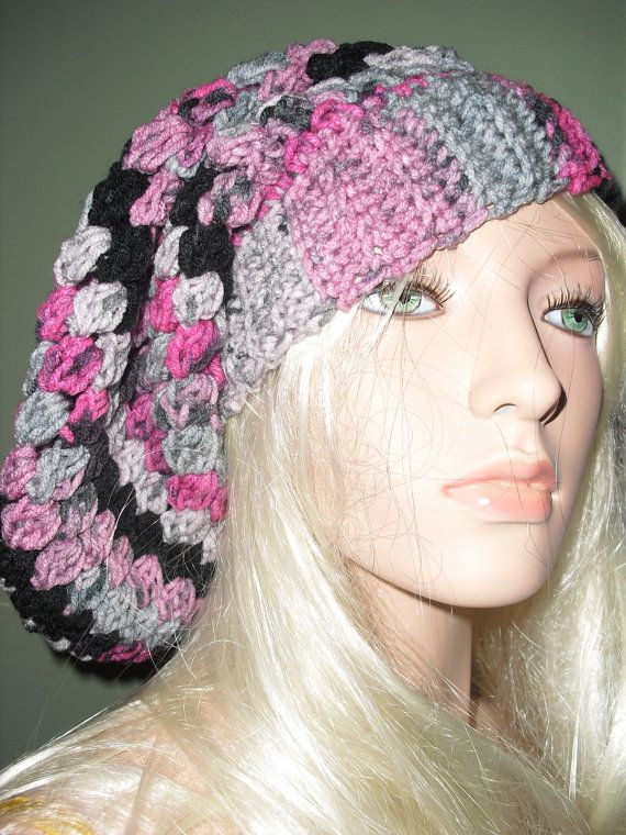 Extra Long Slouchy Hat in trendy Colors, free US & Canada shipping on this item