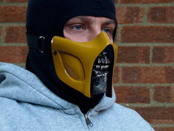 Mortal Kombat Scorpion V3 Gloss Cosplay Mask By Hiddenassassins