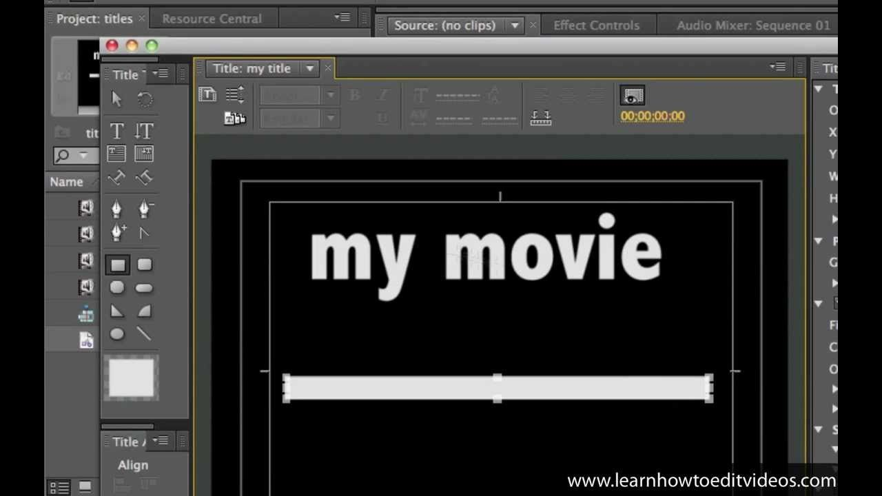 How to make a title slide Movie titles, Adobe premiere