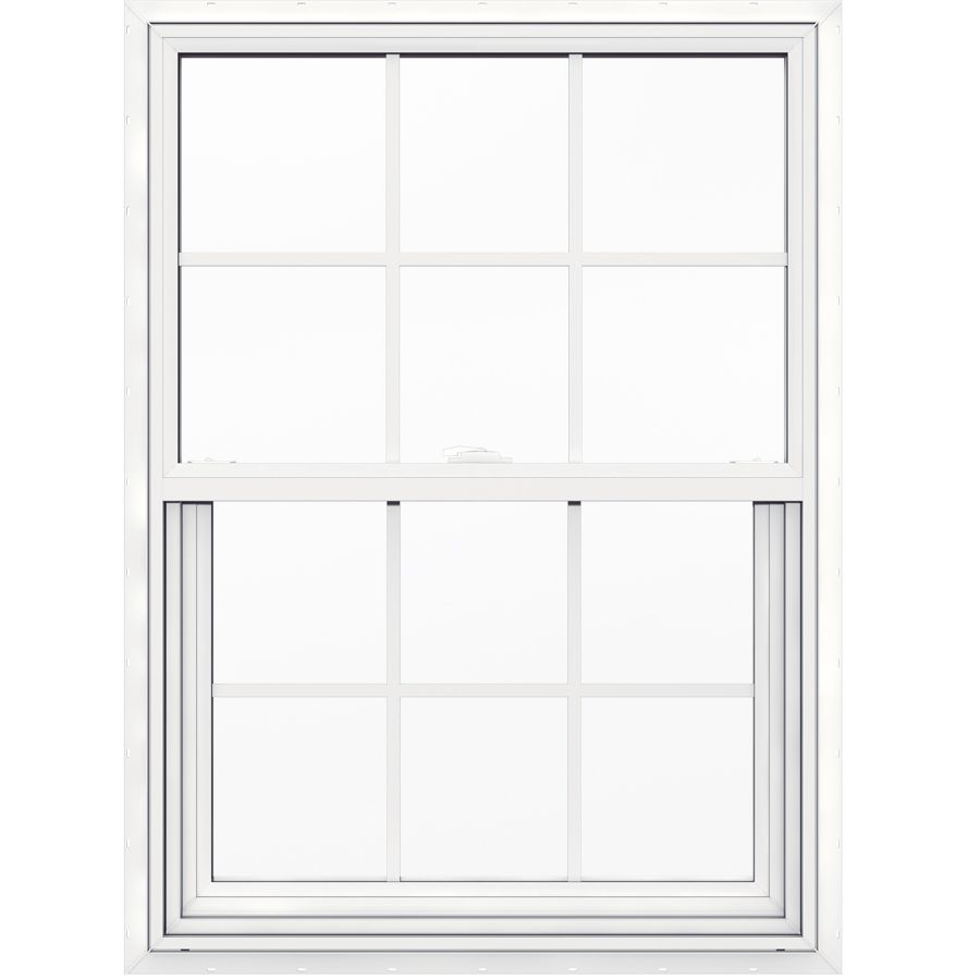 Jeld Wen V 2500 Vinyl New Construction White Exterior Single Hung Window Rough Opening 30 In X 41 In Actual 29 5 In X 40 5 In Lowes Com Single Hung Windows Jeld Wen Window Fitting