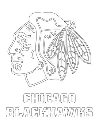 chicago blackhawks logo coloring page - Chicago Blackhawks Coloring Pages
