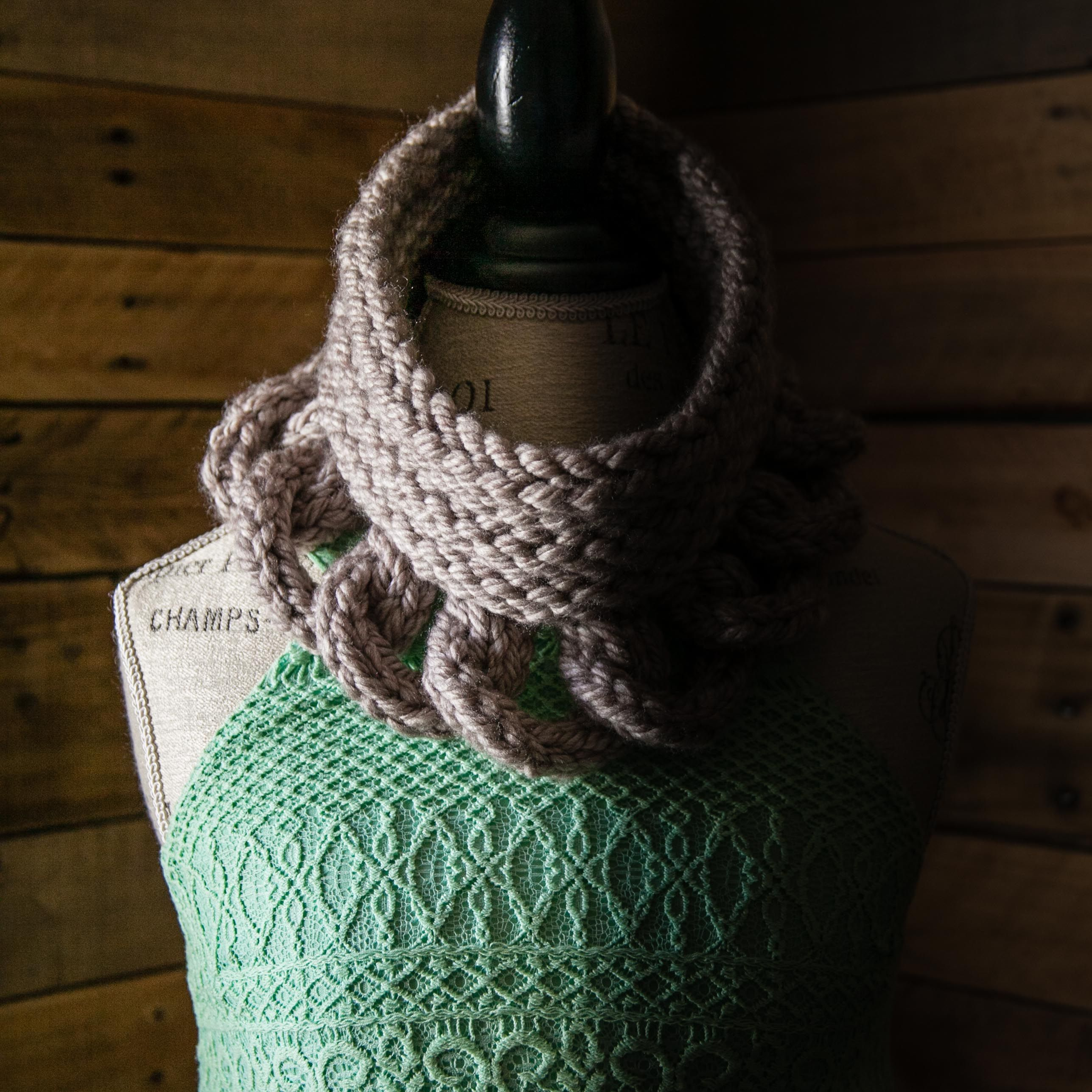 Loom Knit Cowl Pattern, Structural, High Fashion Cowl Pattern. PDF ...