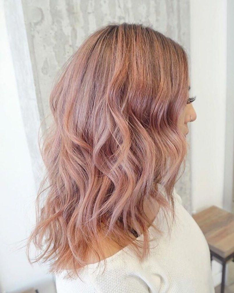 Rose Gold for Brown Hair Complete System | Golden brown hair, Brown hair with highlights, Brown ...