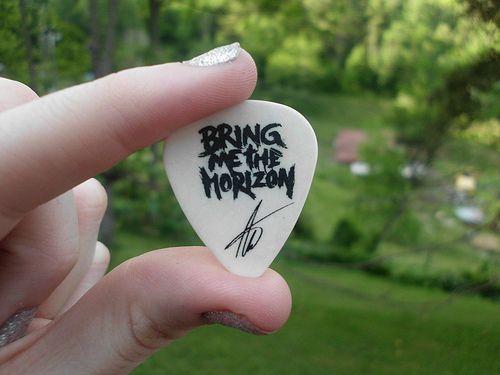 Matt Kean from Bring Me The Horizon's bass pick.(: | Flickr ...