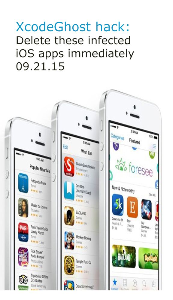XcodeGhost hack Delete these infected iOS apps