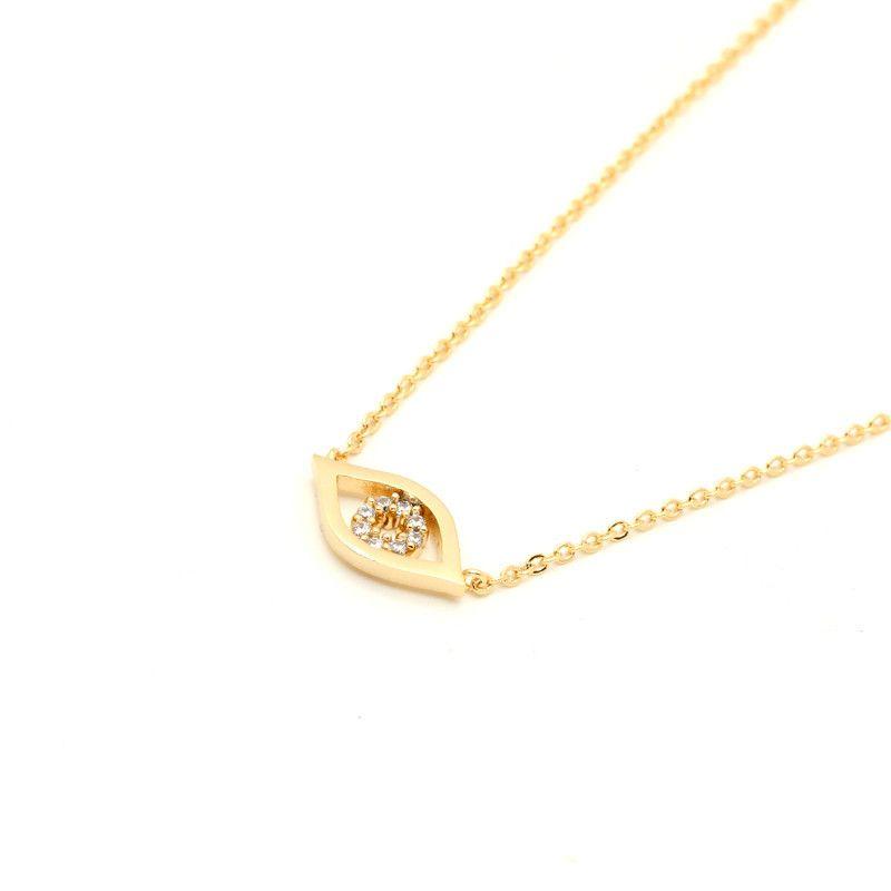 Evil Eye Multi Diamond Necklace Gold Anarchy Street Big Diamonds Necklace Gold Necklace Necklace