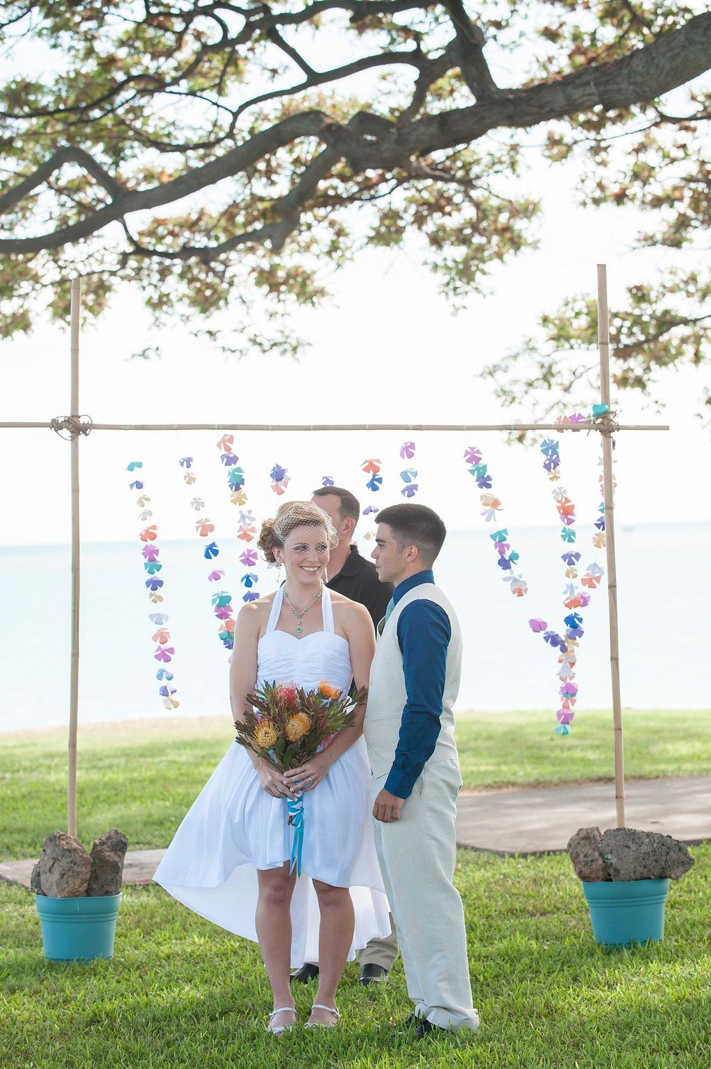 How to Make your Own DIY Bamboo Wedding Arch Paper