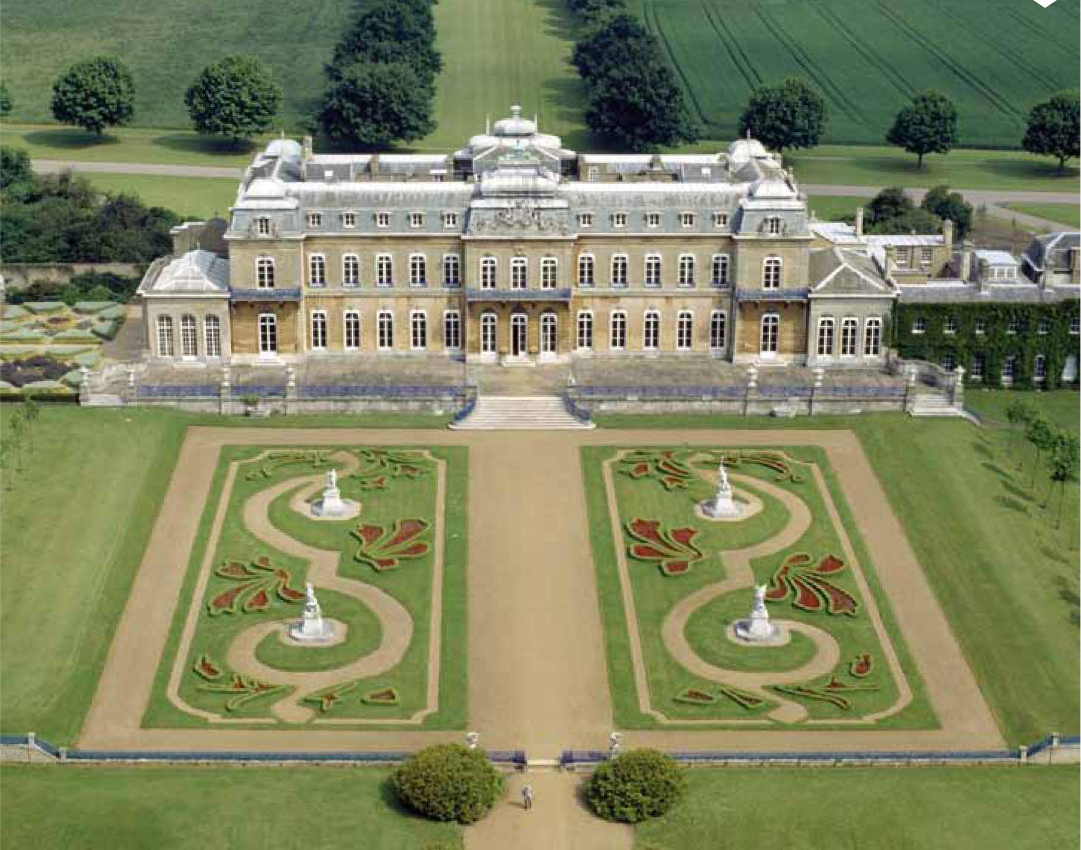 Wrest Park, Bedfordshire, England. Beautiful formal Baroque ...