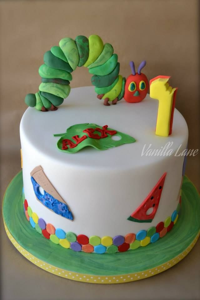 The Very Hungry Caterpillar Birthday Cake by Vanilla Lane